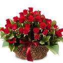 붉은 장미 꽃바구니